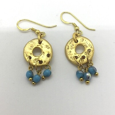 BE-21 Gold plated stone earrings