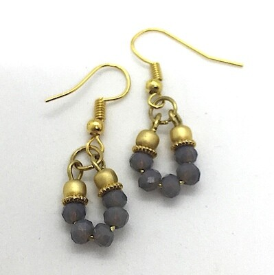 BE-20 Gold plated stone earrings