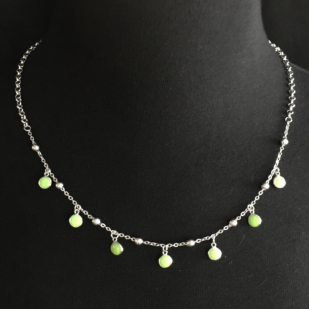B112S Silver and Gold plated necklace