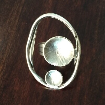 OTR-34 Silver plated ring