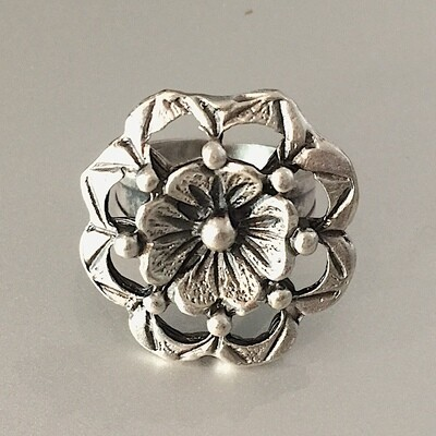 OTR-68 Silver plated ring