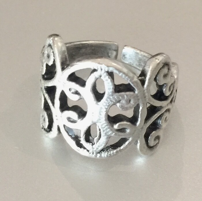 OTR-58 Silver plated ring