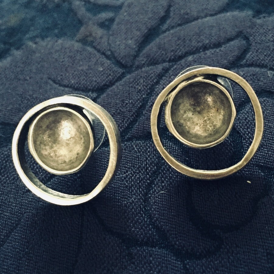 OTE-100 Silver plated earrings