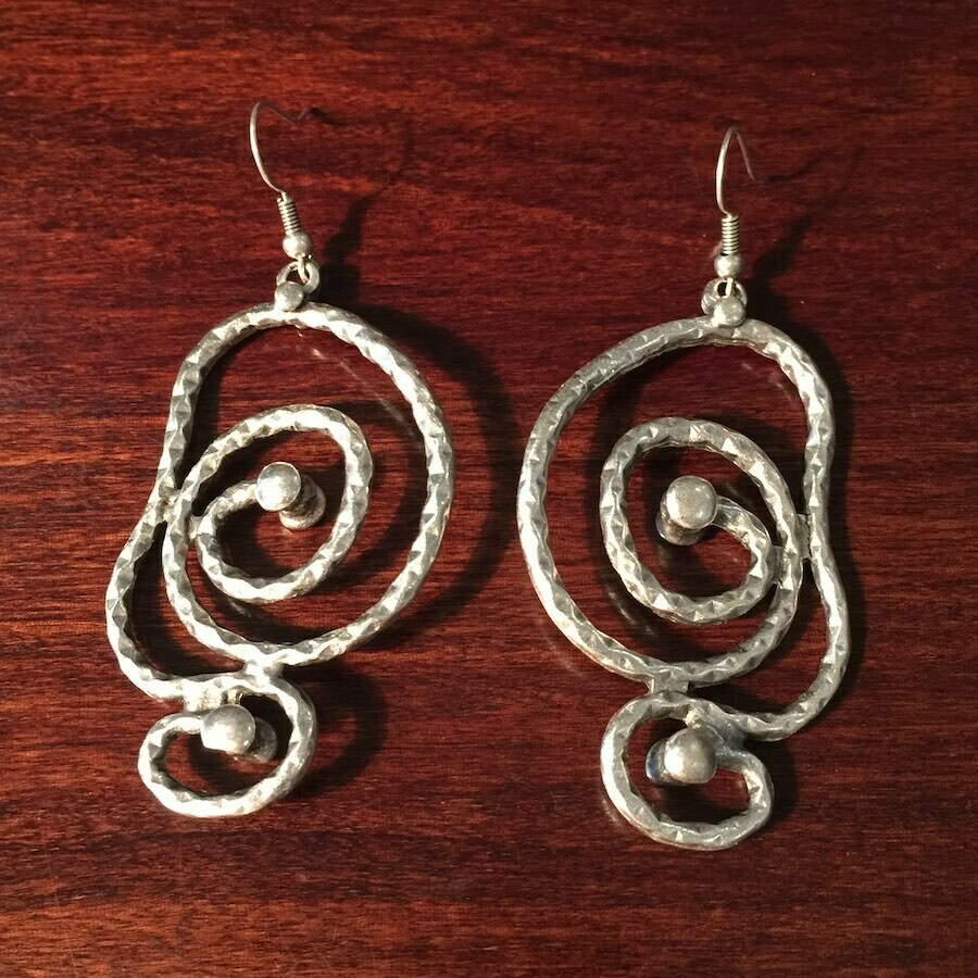 OTE-113 Silver plated earrings