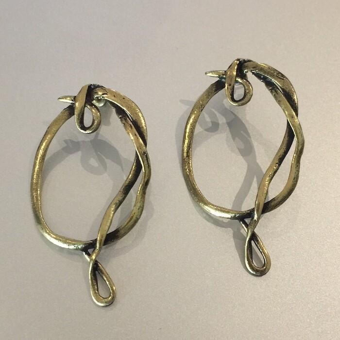 OTEB-6 Bronze earrings