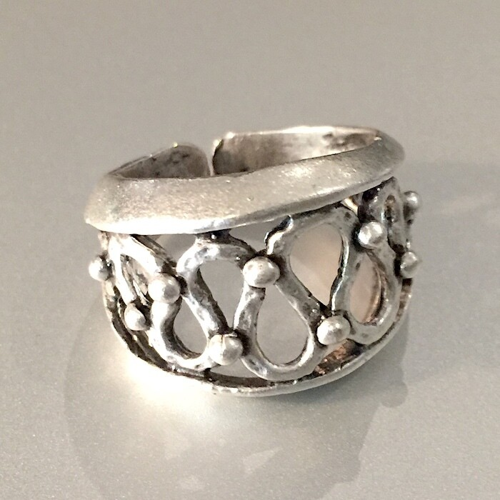 OTR-53 Silver plated ring