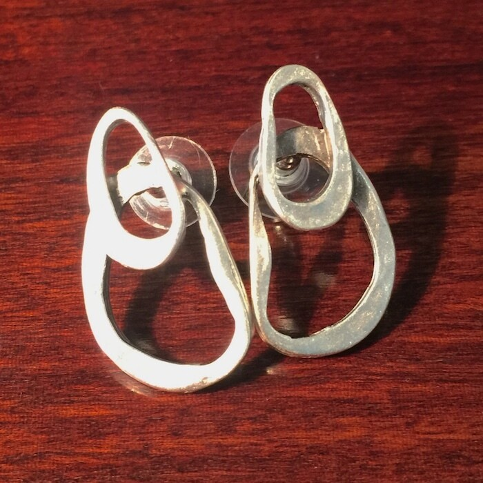 OTE-104 Silver plated earrings