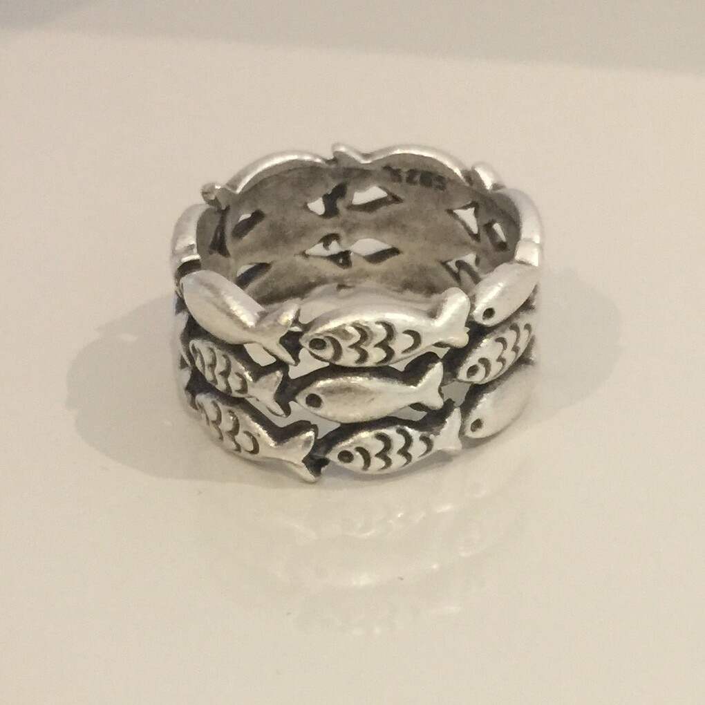 OTR-59 Silver plated ring