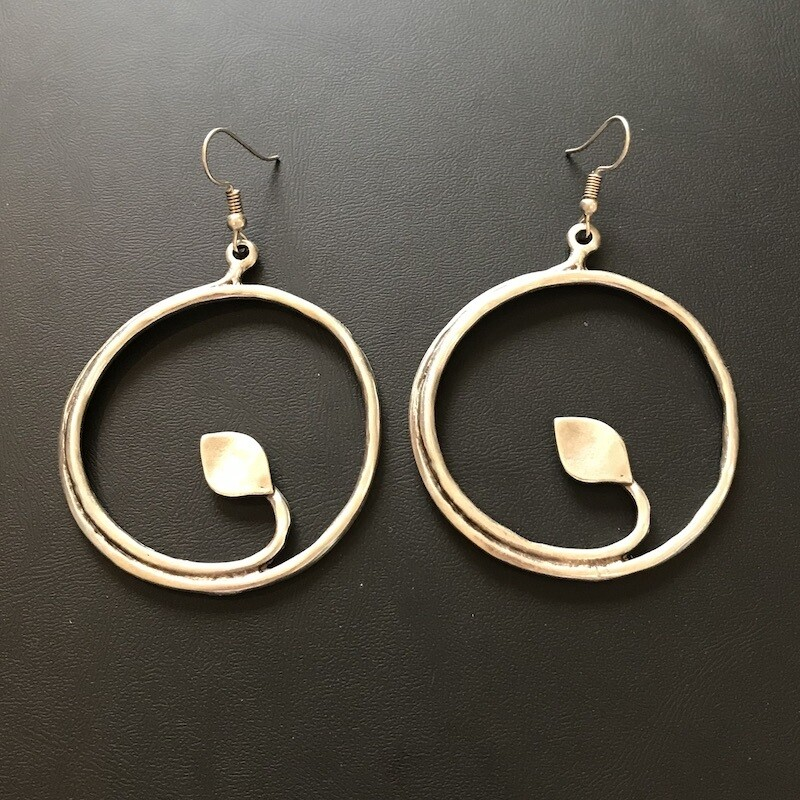 OTE-119 Silver plated earrings