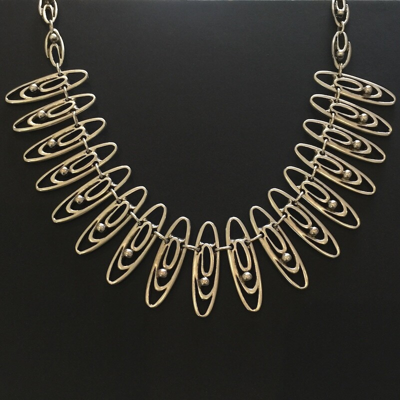 OTN-1758 Silver plated necklace