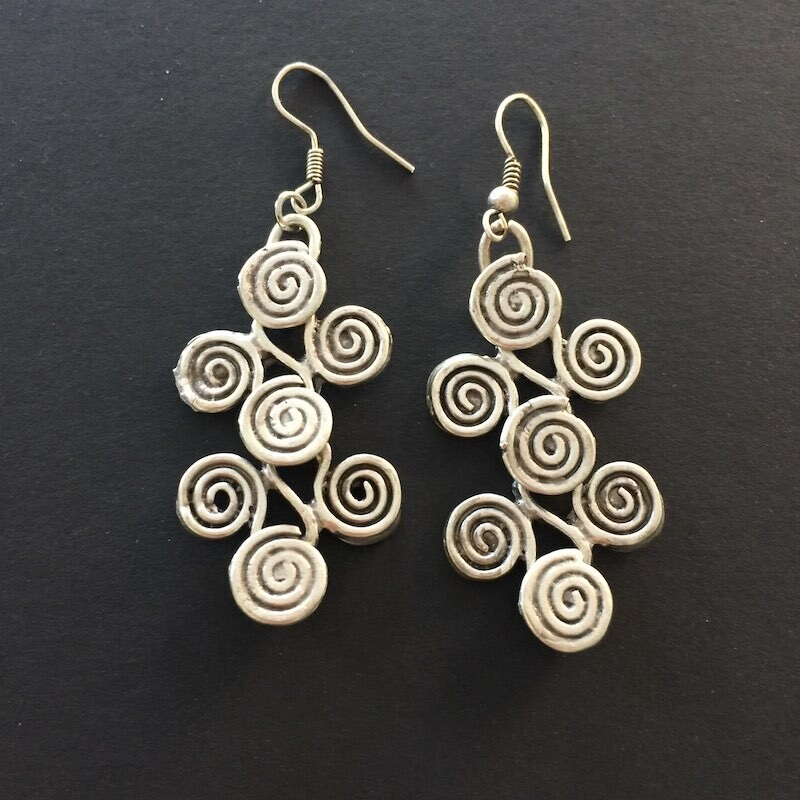 OTE-123 Silver plated earrings