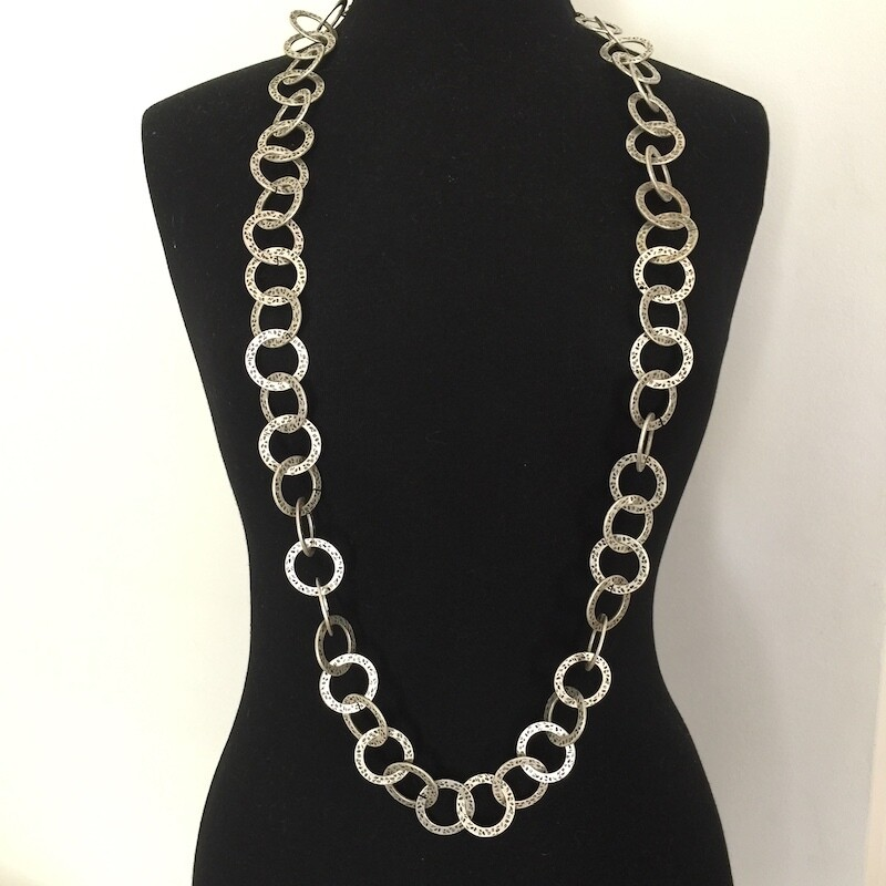 OTN-1557 Silver plated necklace