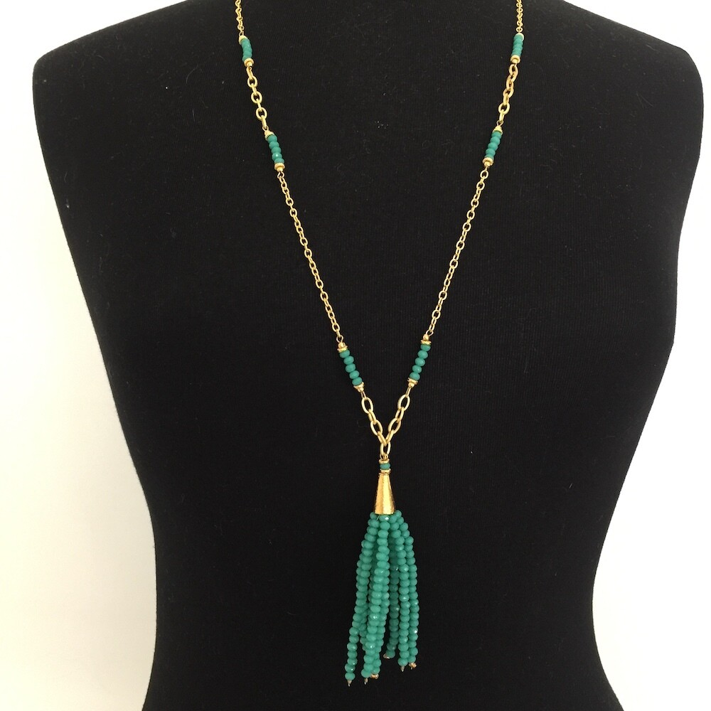 32764 Gold plated stone necklace