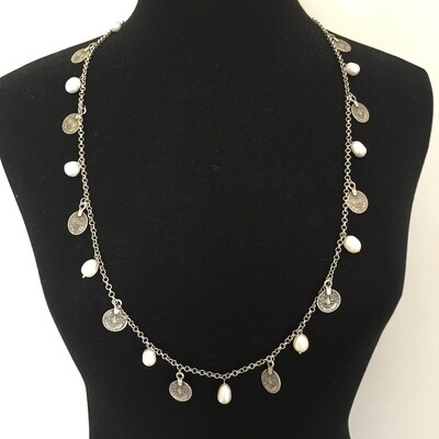BN-204 - Silver Plated Necklace