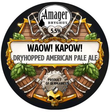 Amager  - Waow! Kapow! - 5,5% - De la pression en canette de 50cl