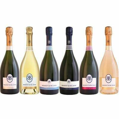 Champagne Besserat de Bellefon - Coffret marinière 3 Cuvées BRUT , ROSE , BLANC DE BLANC