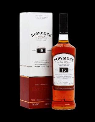 BowMore Islay Single Malt Scotch Whisky 15 ans