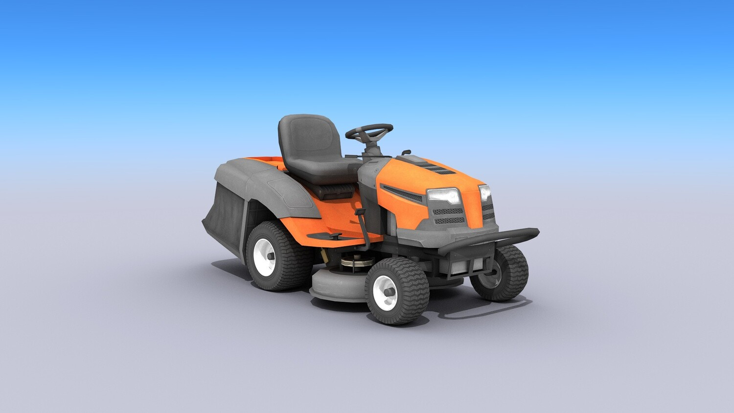 Riding Lawn Mower - Low-poly 3D model