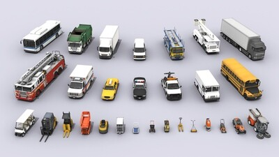 29 Various Vehicles Mega Bundle 3D Models Collection