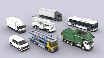 7 Cars and Trucks 3D Model Collection