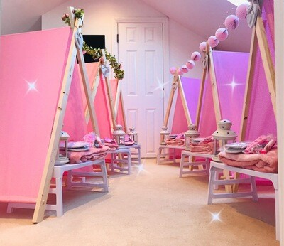 Girls Teepee Tents & Spa Party Sleepover Packs
