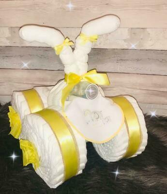 Neutral New Baby Nappy Quad Bike