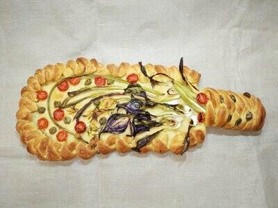 Лигурийская фокаччо с овощами