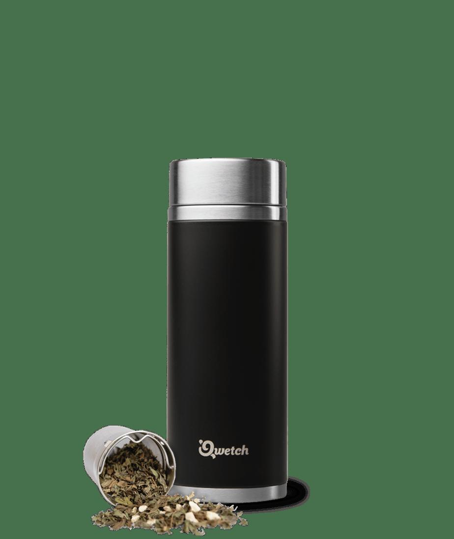 QWETCH - Théière Isotherme 300 ml - Noir