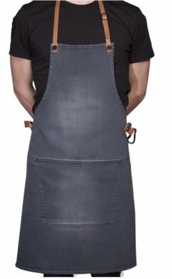 Apron BBQ Denim washed grey