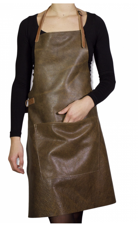 Apron BBQ Vintage brown