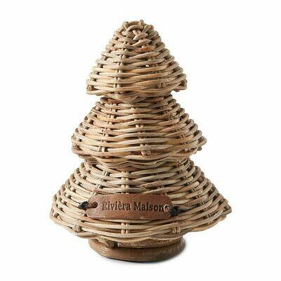 RUSTIC RATTAN MERRY CHRISTMAS TREE XS