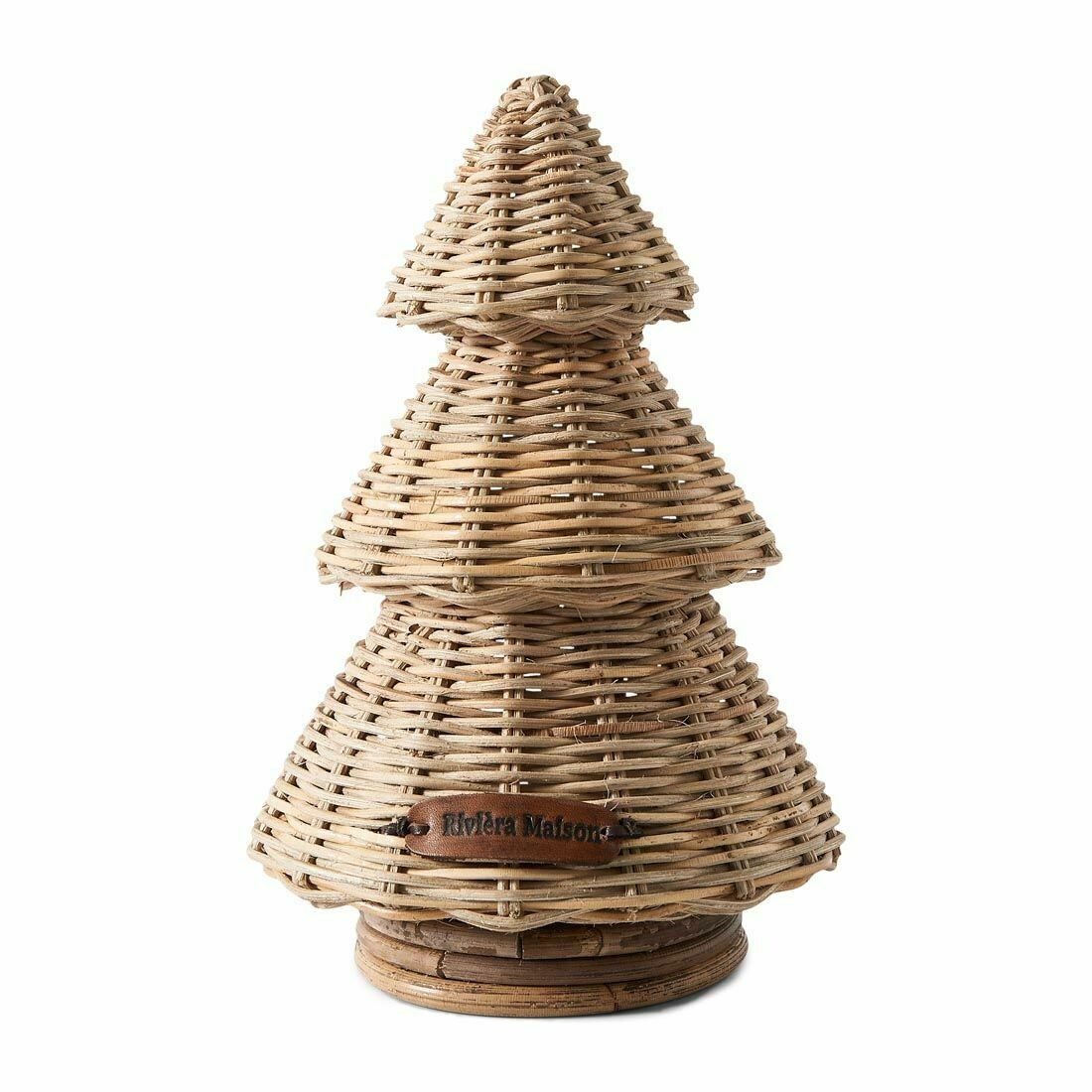 RUSTIC RATTAN MERRY CHRISTMAS TREE S