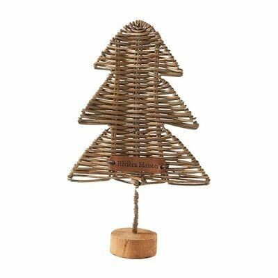 RUSTIC RATTAN OH CHRISTMAS TREE M