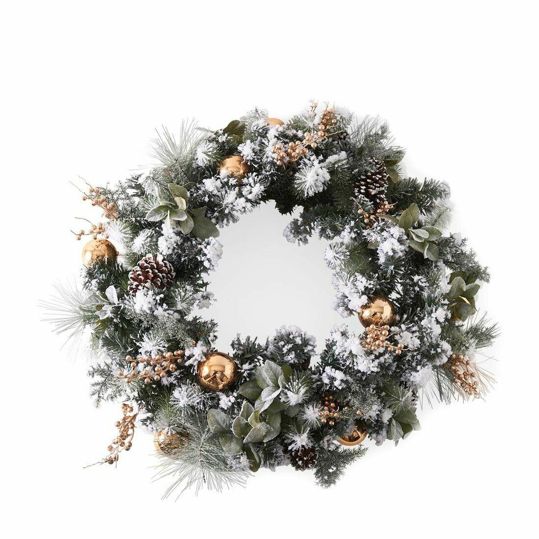 MERRY CHRISTMAS WREATH GOLD 100 cm