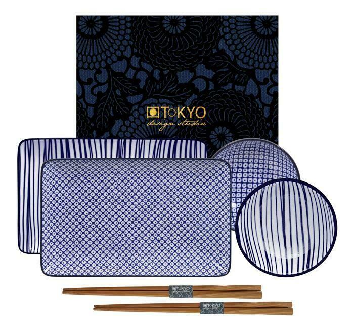 Nippon Blue Sushi Plate