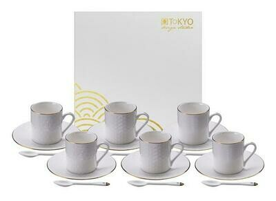 NIPPON WHITE ESPRESSO SET 18 PCS GIFT BOX