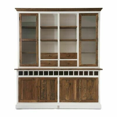 Driftwood Cabinet With Winerack