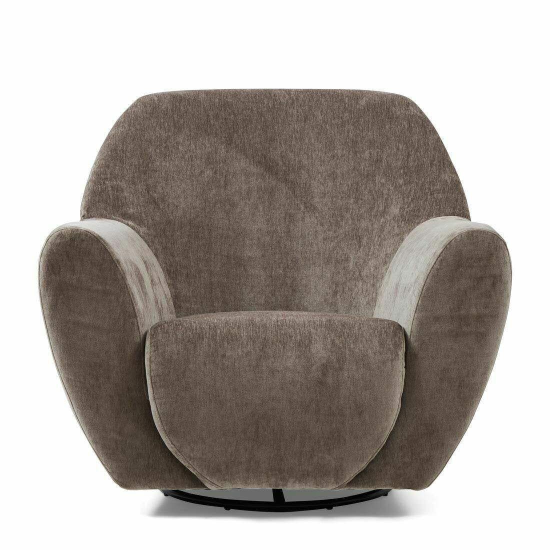 Chaise pivotante The Jill, velours, olive