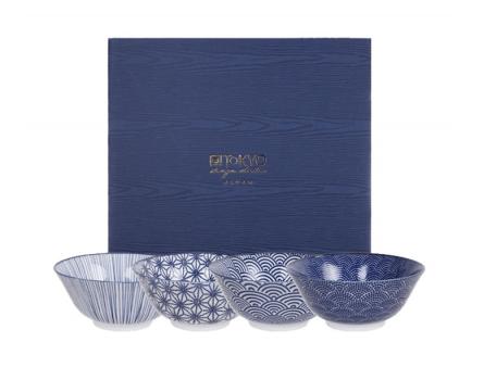 Nippon Blue Coffret de 4 Tayo Bol