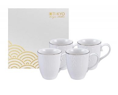 NIPPON WHITE COFFRET 4 MUG 380 ml