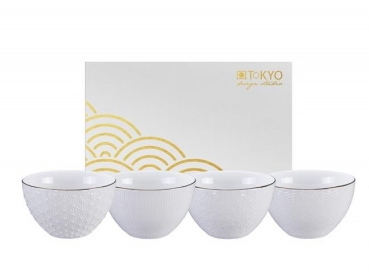 NIPPON WHITE COFFRET 4 BOLS 350 ml