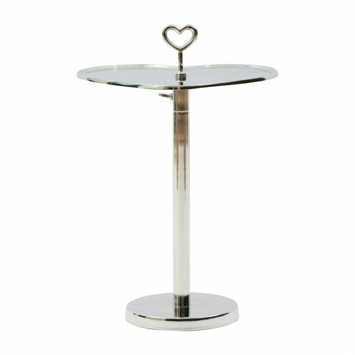 LOVELY HEART ADJUSTABLE END TABLE