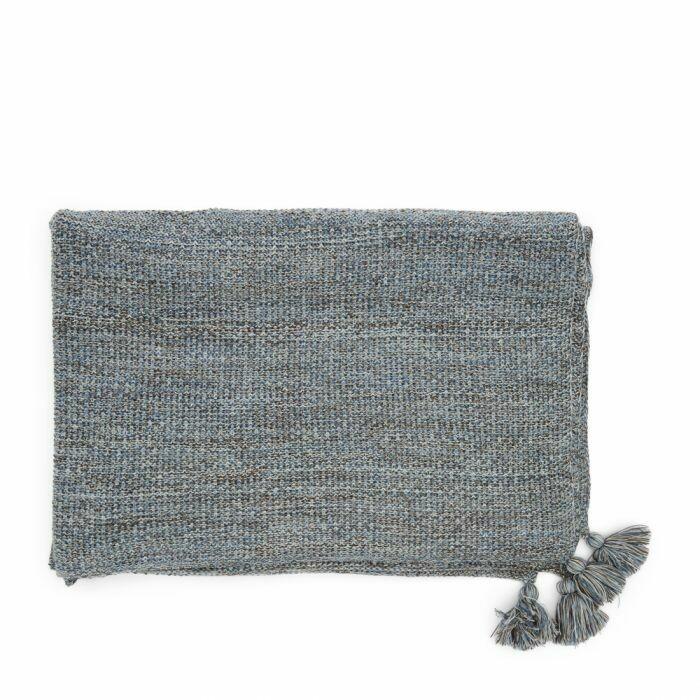 RHYTHM KNITTED THROW 180/130 BLUE