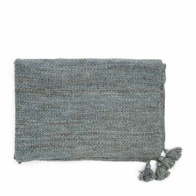 RHYTHM KNITTED THROW 180/130 BLUE