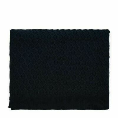 RM KNITTED CABLE THROW 180/130 BLUE