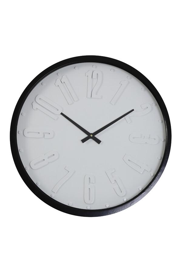 Horloge RACEN blanc + noir Ø58x6,5 cm
