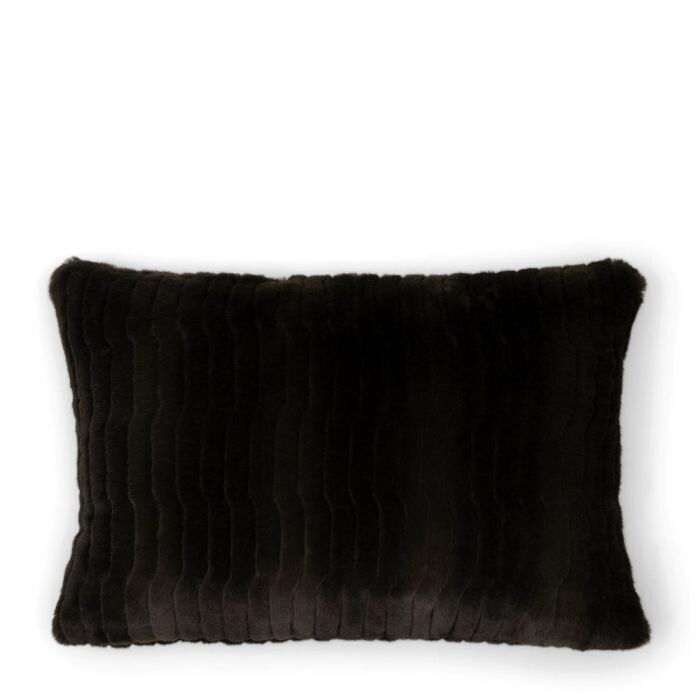 FAUX FUR PILLOW COVER GREEN 65/45