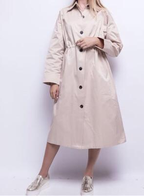 Robe chemise ajustable Beige
