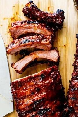 Frozen BBQ back ribs