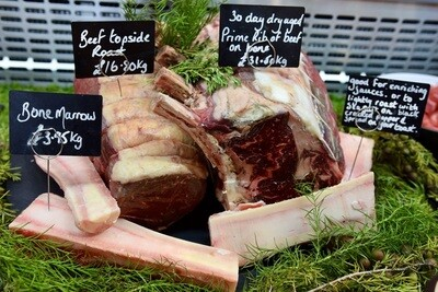 30 Day Dry Aged Rib of Beef on Bone (£/200g)